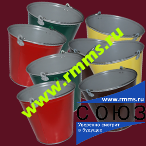 Полимерное ведро (ведро с полимерным покрытием) 9 литров, 12 литров, 15 литров
